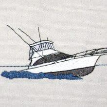 Custom Boat Fender Design - Sportfish Boat