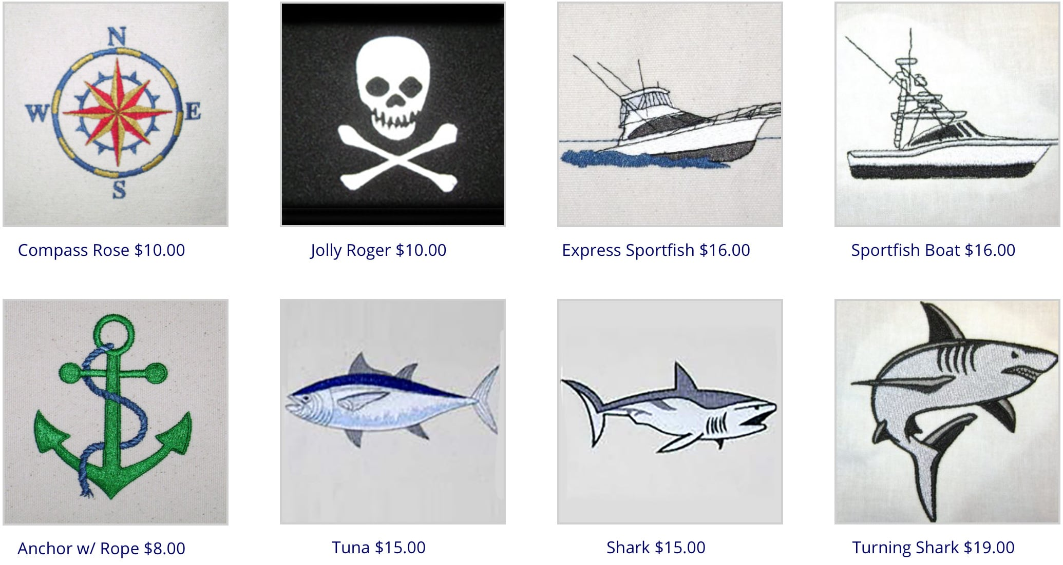 Boat Fenders Custom Embroidery Options